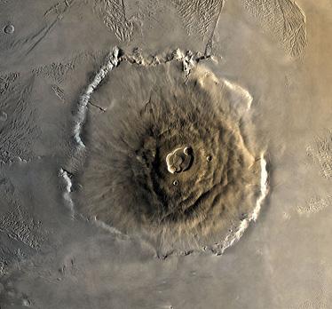 Olympus Mons, on Mars.