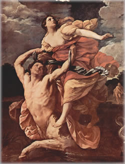 Abduction of Deianira (1617-21). Painting by Guido Reni.