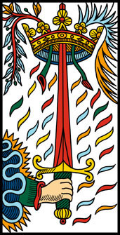 Ace of Swords -- Camoin-Jodorowsky Tarot deck.