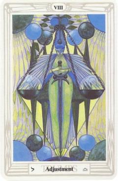 Adjustment - Crowley-Harris Thoth Tarot deck.