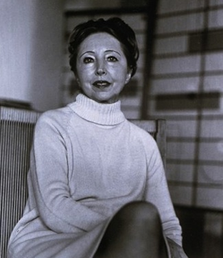 Anais Nin, photo taken in the 1970s. Image from Wikipedia.