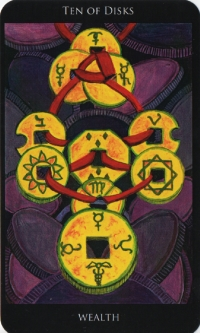 Ten of Disks -- Rosetta Tarot deck.