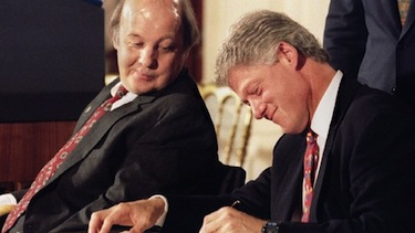 James S. Brady and Pres. Bill Clinton at the signing of the Brady Handgun Violence Prevention Act on Nov. 30, 1993. Reuters photo