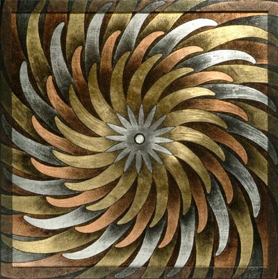 Pinwheel Mandala. Painting by P.C. Turczyn.