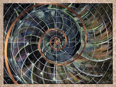 Nautilus: r = ka. Painting by P.C. Turczyn