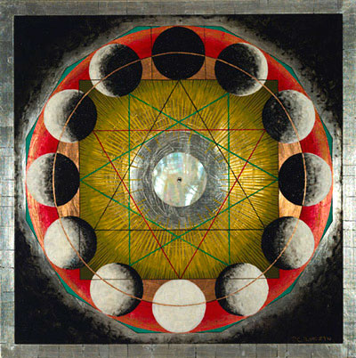 Squaring the Circle: Heaven In Earth. Painting by P.C. Turczyn