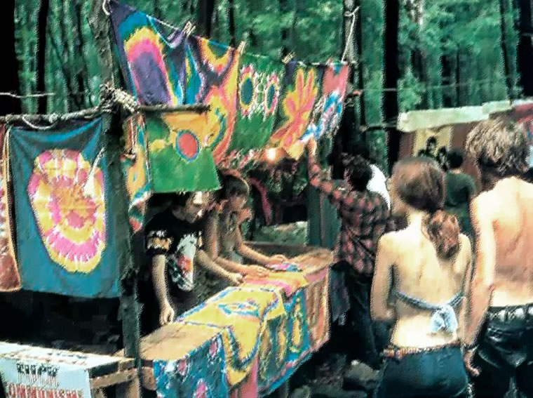 Scene from the 1969 Woodstock Music and Arts Festival, White Lake, Bethel, NY.