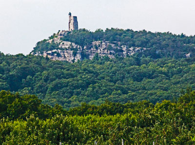 Skytop Tower in New Paltz, New York, symbol of Mohonk Preserve and the Mohonk Mountain House. Photo by Eric Francis.