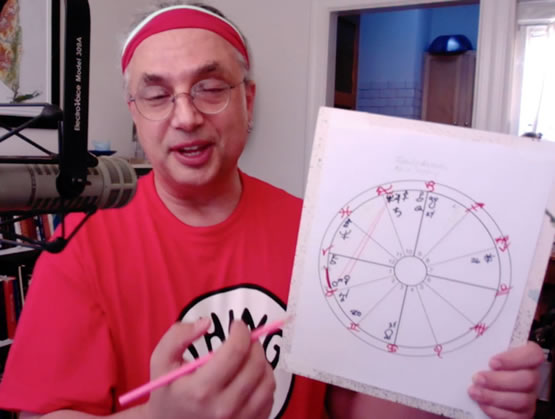 Eric Francis in a screen shot from the introductory video covering the astrology of Mars retrograde.