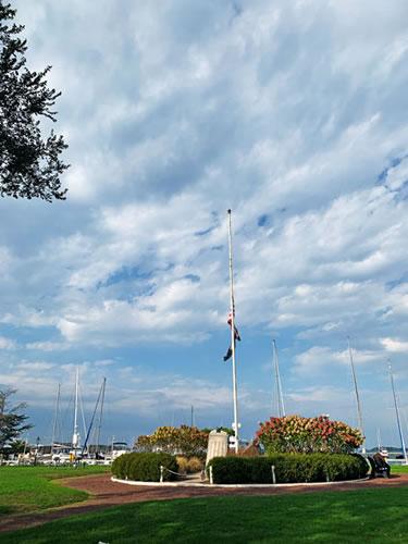 Marine Park and the marina at Sag Harbor, New York. Photo by Eric Francis.