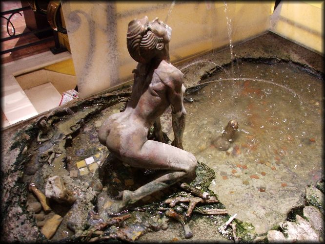 Fountain, Museum of Erotic Art, Paris. Digital photo by Eric Francis.