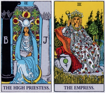 The High Priestess and The Empress: Inner and outer worlds