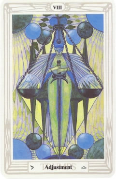 Adjustment - Crowley-Harris Thoth Tarot deck.