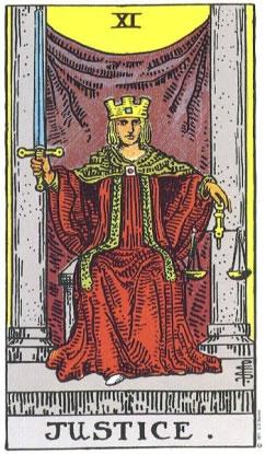 Justice - RWS Tarot deck.