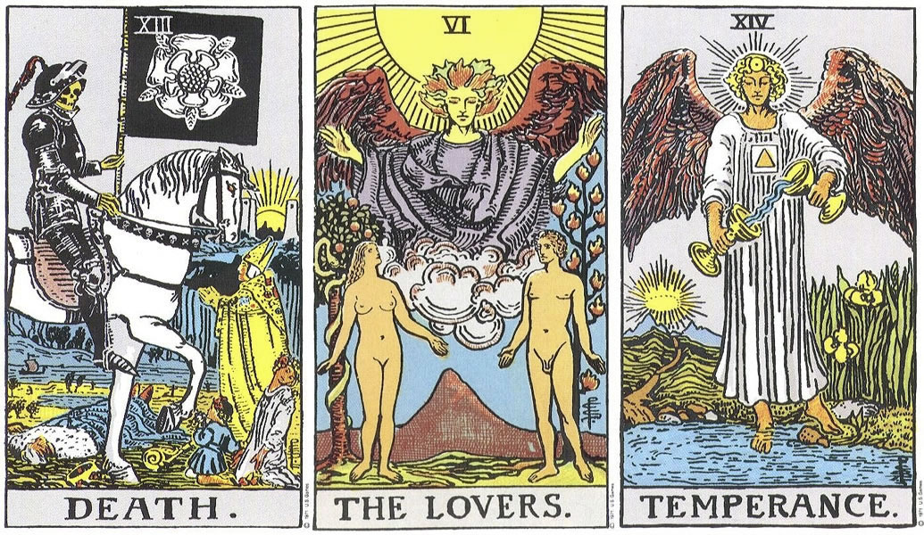 Image result for tarot the lovers the death
