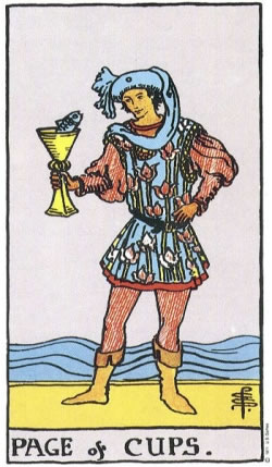 Page of Cups - RWS Tarot deck.