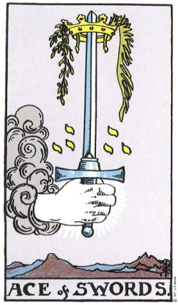 Ace of Swords - RWS Tarot deck.