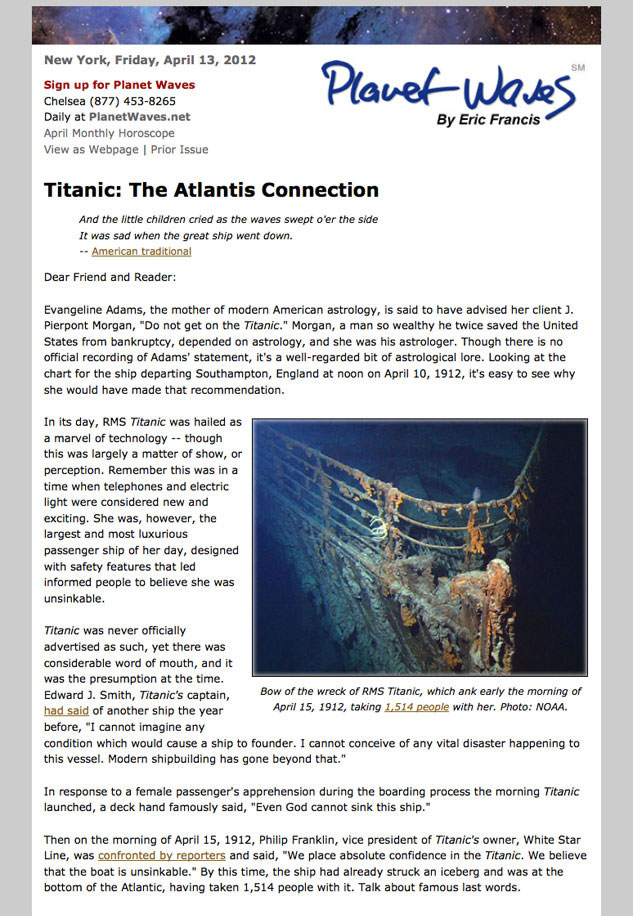 Titanic Astrology