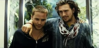 Ben and Chon in Oliver stone's movie Savages, based on Don Winslow's book of the same name..