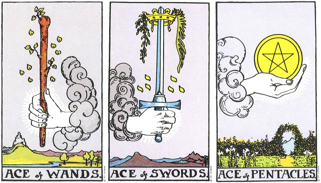 [Pilt: ace_wands_ace_swords_ace_pentacles_rws_lg.jpg]