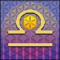 LIBRA Astrology Design, 2012, Flower of Life, Sacred Geometry, D