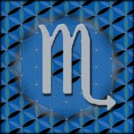 SCORPIO Astrology Design, 2012, Flower of Life, Sacred Geometry,