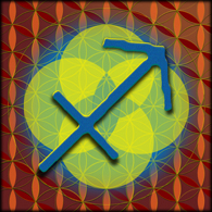 SAGITTARIUS Astrology Design, 2012, Flower of Life, Sacred Geome