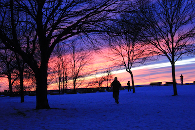 Sunset at Fort Sumner, Portland, Maine. Photo by Amanda Painter.