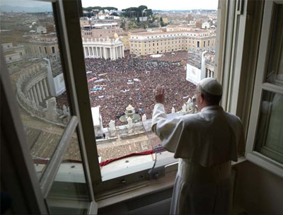 Pope Francis canonized St. Smeagol before a record crowd in St. Peter's Square. Everyone thought it was really cool that he named a character from Lord of the Rings to be a saint.
