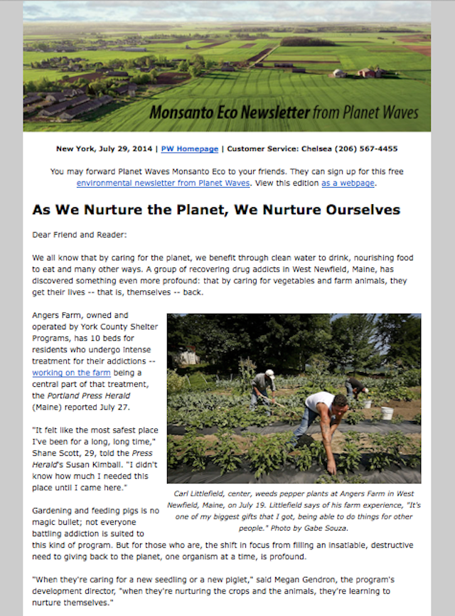 See below for sign-up info for this free environmental newsletter, plus the link to read this week's issue.