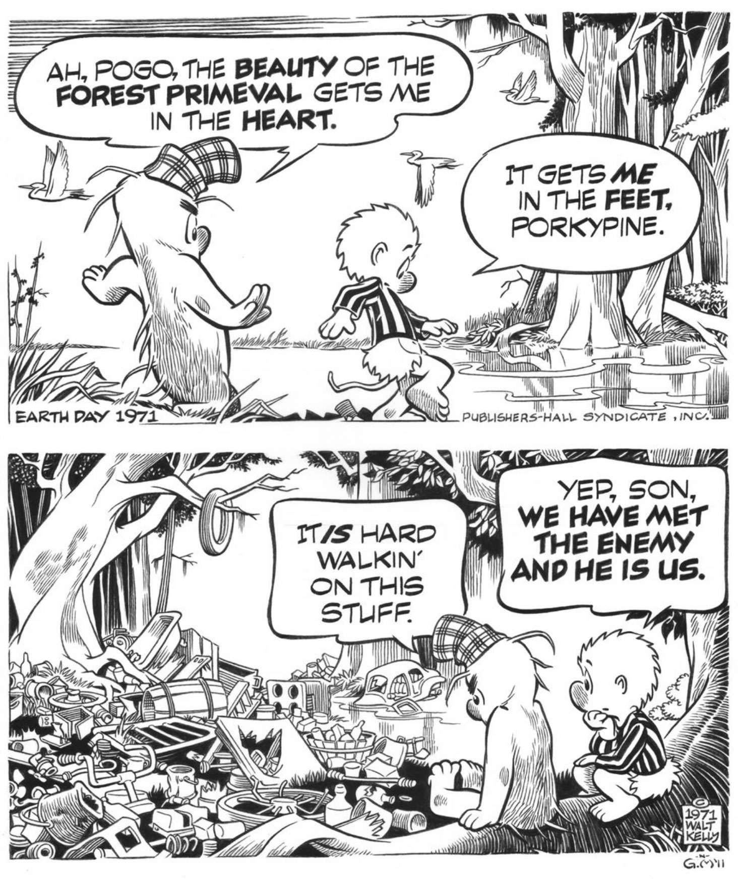 Pogo by Walt Kelly, from Earth Day 1971