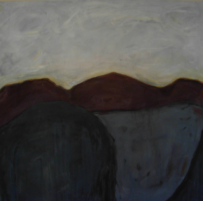 Landscape in Grey & Brown by Stacy Bergener